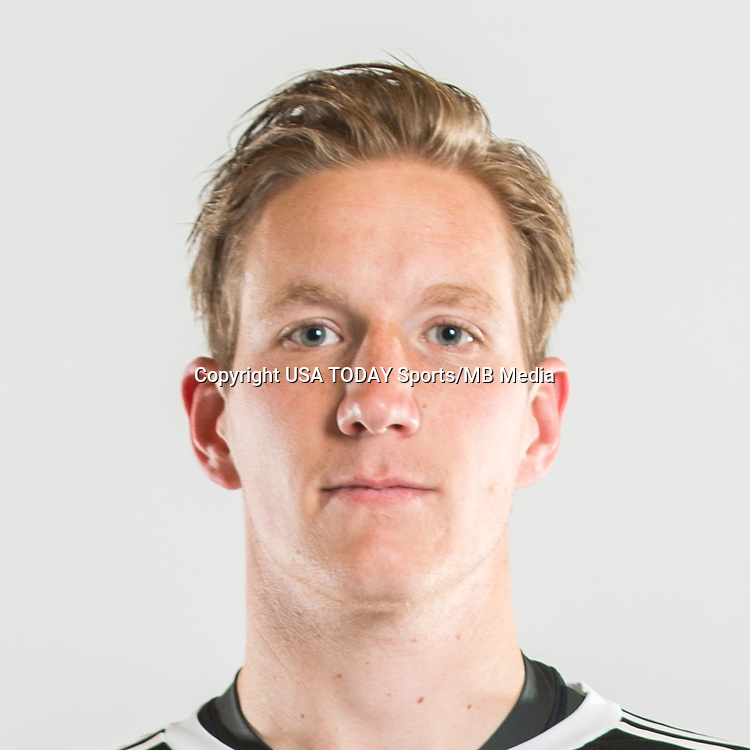 Feb 25, 2017; USA; New York City FC player Eirik Johansen poses for a photo. Mandatory Credit: USA TODAY Sports