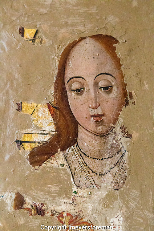 lady of the cathedral museum, almost lost over time. Church fresco