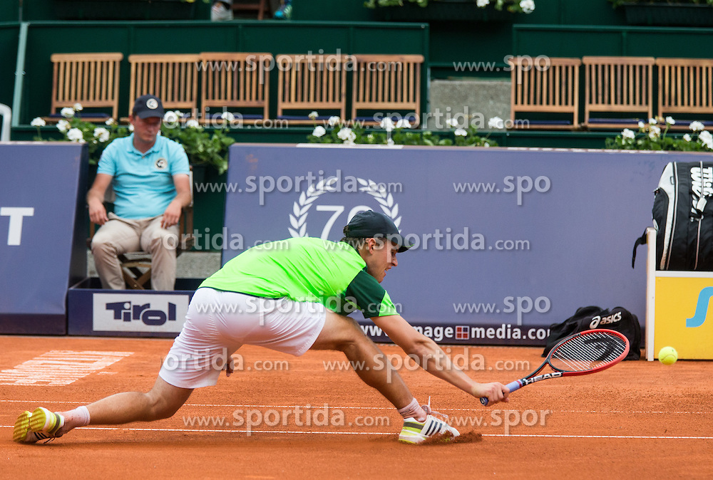 28.07.2014, Sportpark, Kitzbuehel, AUT, ATP World Tour, bet at home Cup 2014, Hauptrunde, Einzel, im Bild Dominic Thiem (AUT) // Dominic Thiem of Austria in action during men's singles at the main round of bet at home Cup 2014 tennis tournament of the ATP World Tour at the Sportpark in Kitzbuehel, Austria on 2014/07/28. EXPA Pictures © 2014, PhotoCredit: EXPA/ Johann Groder