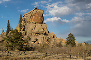 A rock formation in Vedauwoo in the Pole Mountain unit of the Medicine Bow-Routt National Forest on Oct. 5, 2017.