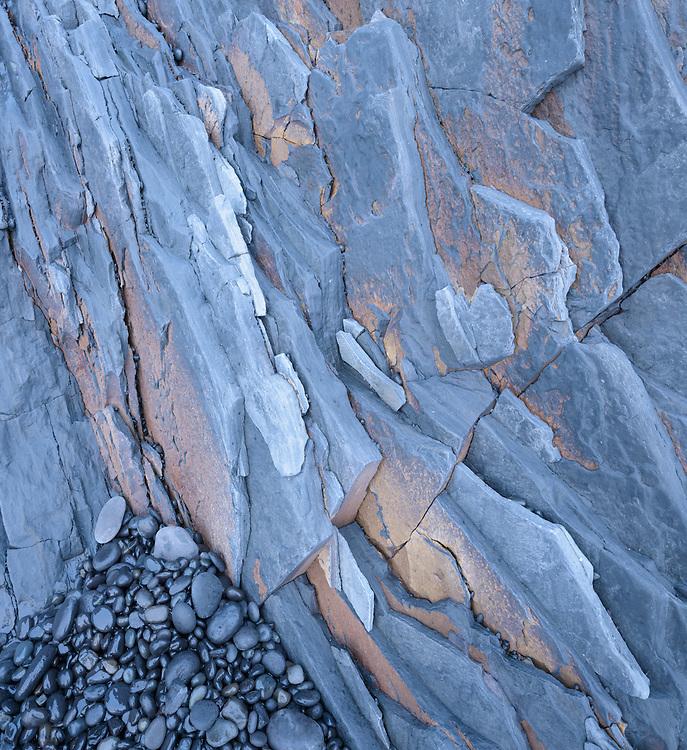 Volcanic rocks at Djupalonssandur, Iceland