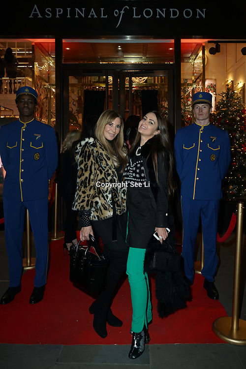 Alexis Lewis and Alina Blinova is an ambassador of Aspinal of London - store launch on 5th Dec 2017 a Luxury leather goods retailer launches its London flagship store on Regent Street, London, UK.