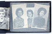 vintage photo album with portraits