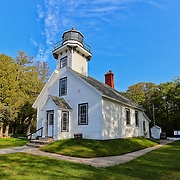&quot;Mission Point Lighthouse&quot;<br /> <br /> Scenic Lighthouse on the tip of a Peninsula just north of Traverse City Michigan. One of the many historic lighthouses on Lake Michigan!!<br /> <br /> Lighthouses of the Great Lakes by Rachel Cohen