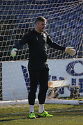 Scunthorpe United  Matt Gilks (1) warming up before the EFL Sky Bet League 1 match between Bristol Rovers and Scunthorpe United at the Memorial Stadium, Bristol, England on 24 February 2018. Picture by Gary Learmonth.