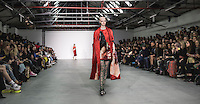 Fyodor Golan presentation at London Fashion Week AW 16 - FYODOR GOLAN was establish in 2011 by Fyodor Podgorny and Golan Frydman.<br /> <br /> The designers drive and expressive approach established immediately recognisable brand image. Playful undertone with experimental cuts focused on bold colours and digital like textures. Whilst the collections vary in style the signature remains distinct.<br /> <br /> FYODOR GOLAN became the youngest brand to take part in Fashion Motions series, hosting catwalk shows at the Victoria & Albert Museum in historic Raphael Gallery.<br /> In 2015 duo won in category best new E -Store on the block at the Decoded Fashion Awards and have brought to life unique collaborations with My Little Pony, Transformers and Microsoft to the London Fashion Week catwalks.<br /> <br /> FYODOR GOLAN's exuberant collections are available in stores worldwide from Selfridges London, Luisa Via Roma in Florence, HLorenzo in LA, I.T China and Hong Kong amongst others.