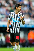 Federico Fernandez (#18) of Newcastle United during the Premier League match between Newcastle United and Arsenal at St. James's Park, Newcastle, England on 15 September 2018.
