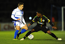 Sam Matthews of Bristol Rovers is challenged by Rhys Browne of Yeovil Town- Mandatory by-line: Nizaam Jones/JMP - 09/10/2018 - FOOTBALL - Memorial Stadium - <br /> Bristol, England - Bristol Rovers v Yeovil Town - Checkatrade Trophy