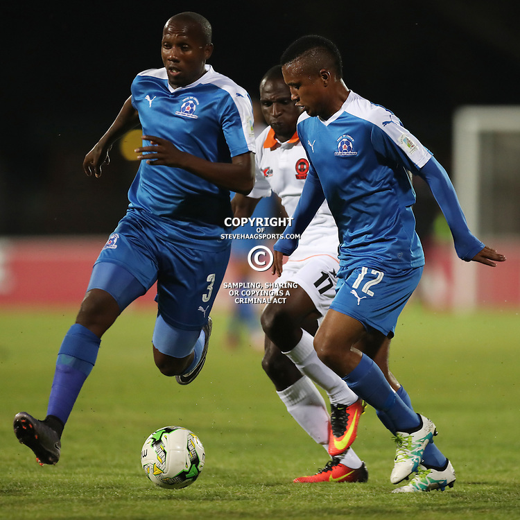 Sheldon van Wyk of Maritzburg Utd  on the ball during the 2016 Premier Soccer League match between Maritzburg Utd and Polokwane City held at the Harry Gwala Stadium in Pietermaritzburg, South Africa on the 27th September 2016<br /> <br /> Photo by:   Steve Haag / Real Time Images