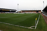 A dismal day for the Sky Bet League 2 match between Cambridge United and Carlisle United at the R Costings Abbey Stadium, Cambridge, England on 16 April 2016. Photo by Nigel Cole.