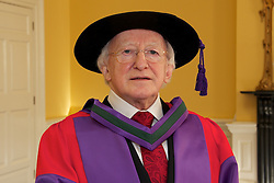 At a ceremony in Dublin Castle, the Chancellor of the National University of Ireland, Dr Maurice Manning conferred the honorary degree of Doctor of Laws (LLD) on the President of Ireland, His Excellency, Dr Michael D. Higgins. .. President of Ireland, His Excellency, Dr Michael D. Higgins..In his introductory citation, Dr Jim  Browne, Vice-Chancellor of NUI and President of NUI Galway defined the conferring as honouring an extraordinary man who personifies and combines so many decencies that, taken individually, we perceive to be ordinary..In a phrase used by the late President Cearbhall O Dalaigh to characterise the role of President, Dr Browne said that  As the ninth President of Ireland Michael D. Higgins is, somewhat paradoxically, the primus inter pares or first among equals. .Referring to the Presidents election, Dr Browne said that his radical egalitarianism animated his claim to be elected as Uachtaran na hEireann in 2011. It posited a moral choice not between the state and the market but between two versions of the state. We were invited to reconceive the role of government in a re-imagined state and to engage without shame in an ethically informed public conversation about the choices that this would entail..It was an unapologetic claim that placed ethics before competence in what he prescribed as a real Republic. It challenged the Irish people to accept that adjustment by daring to re-imagine and revive almost-forgotten decencies. Over one million voters rose to that challenge..Dr Browne summarised the Presidents political career in the following terms:  First elected to Dail Eireann in 1981, he represented Galway-West as a T.D. until 2011. Michael D. Higgins has identified, amplified and championed the rights and interests of communities that he described as comhluadar faoi bhron. He did so without fear, using everything at his disposal: politics, sociology, broadcasting, journalism and poetry. In 1992, he was the first recipient of