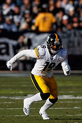 OAKLAND, CA - DECEMBER 09: Wide receiver JuJu Smith-Schuster #19 of the Pittsburgh Steelers runs up field against the Oakland Raiders during the second quarter at the Oakland Coliseum on December 9, 2018 in Oakland, California. The Oakland Raiders defeated the Pittsburgh Steelers 24-21. (Photo by Jason O. Watson/Getty Images) *** Local Caption *** JuJu Smith-Schuster