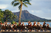 Christmas hula, Waikiki, Oahu, Hawaii