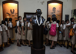 October 02, 2018 -Mumbai, India - Indian students visits Mani Bhavan, a memoir of Mahatma Gandhi, to pay their respect to Mahatma Gandhi on his 150th birth anniversary, in Mumbai, India, October 02 2018. Mahatma Gandhi, also known as 'Father of the Nation', laid foundation of most of his political movements at Mani Bhavan. Mahatma Gandhi birth anniversary is celebrated on 02 October every year. (Credit Image: © Stringer/Xinhua via ZUMA Wire)