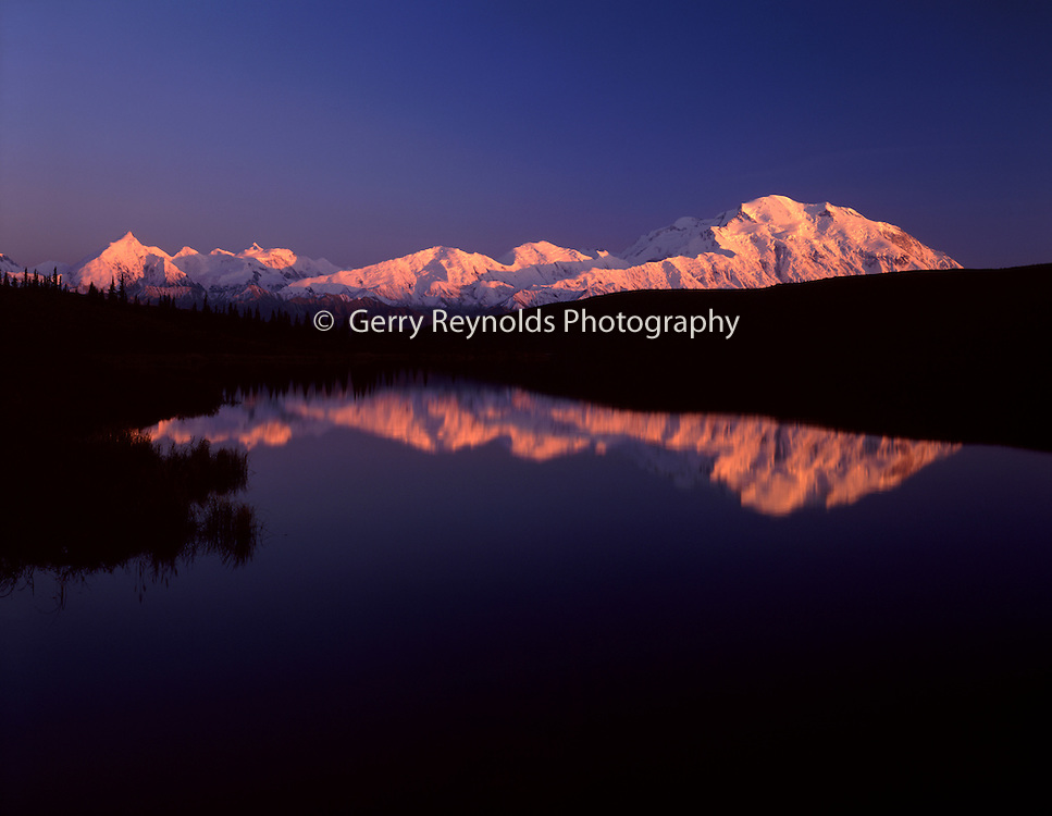 Sunset, Wonder Lake, reflection, Mt. McKinley, Mount McKinley, Denali, Denali National Park, National Park, Alaska, Alaska Range