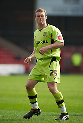WALSALL, ENGLAND - Saturday, April 10, 2010: Tranmere Rovers' Craig Curran in action against Walsall during the Football League One match at the Bescot Stadium. (Photo by David Rawcliffe/Propaganda)