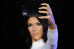 Kim Kardashian's wax figure featured at Madame Tussauds (with her wedding ring) in London, England on October 9, 2016. Photo by Aurore Marechal/ABACAPRESS.COM