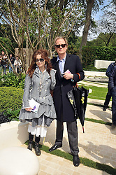 HELENA BONHAM-CARTER and BILL NIGHY at the RHS Chelsea Flower Show 2009 held inthe gardens of the Royal Hospital Chelsea on 18th May 2009.