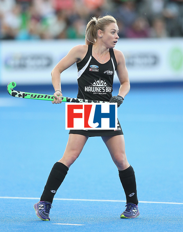 LONDON, ENGLAND - JUNE 21: Anita McLaren of New Zealand during the FIH Women's Hockey Champions Trophy match between New Zealand and Great Britain at Queen Elizabeth Olympic Park on June 21, 2016 in London, England.  (Photo by Alex Morton/Getty Images)