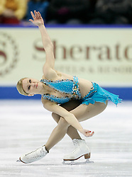 London, Ontario ---10-01-16---   Joannie Rochette skates her free program at the 2010 BMO Canadian Figure Skating Championships in London, Ontario, January 16, 2010. .GEOFF ROBINS/Mundo Sport Images..