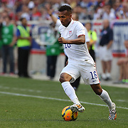 Julian Green, USA, in action during the US Men's National Team Vs Turkey friendly match at Red Bull Arena.  The game was part of the USA teams three-game send-off series in preparation for the 2014 FIFA World Cup in Brazil. Red Bull Arena, Harrison, New Jersey. USA. 1st June 2014. Photo Tim Clayton