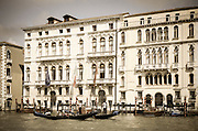Palaces and gondolas on the Grand Canal, Venice, Veneto, Italy