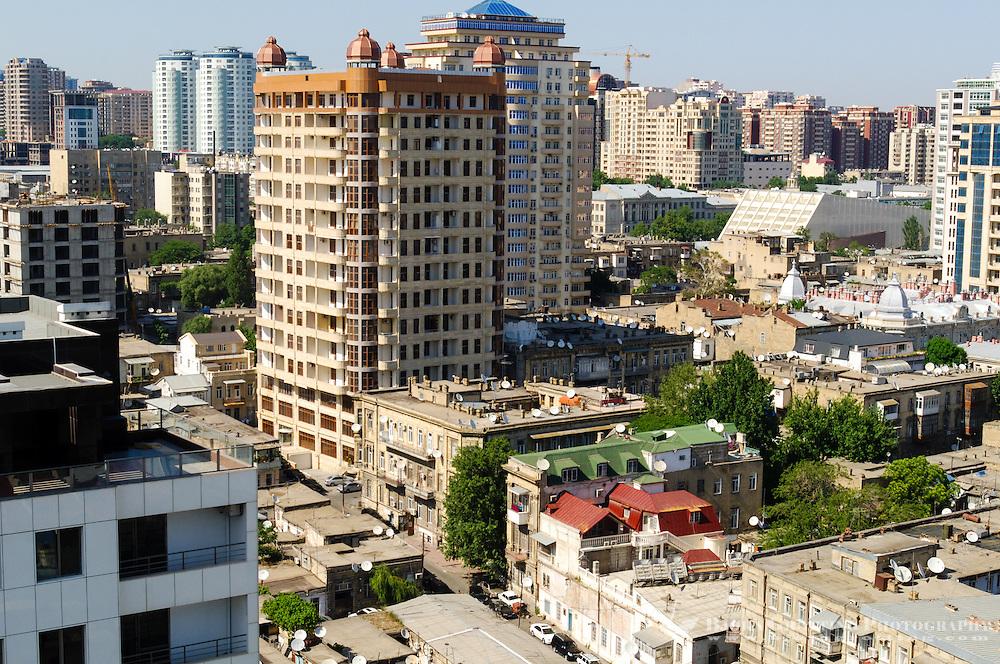 Azerbaijan, Baku. Baku city view.