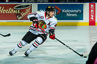 KELOWNA, CANADA - OCTOBER 21: Skyler McKenzie #43 of the Portland Winterhawks skates against the Kelowna Rockets on October 21, 2017 at Prospera Place in Kelowna, British Columbia, Canada.  (Photo by Marissa Baecker/Shoot the Breeze)  *** Local Caption ***