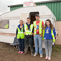Volunteers Lucia Cairns, Stephen Curtis, Martin Gorney and Cieara Kilkenny at the Scarriff Agricultural Show 2014