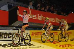 12.01.2012, ÖVB-Arena, Bremen, GER, Sixdays Bremen, im Bild Marcel Barth (Team Germania), Leif Lampater (Team Sparkasse Bremen), Marcel Katz (Team ÖVB Versicherungen) // during the Sixdays Bremen on 2012/01/12, ÖVB-Arena, Bremen, Germany. EXPA Pictures © 2012, PhotoCredit: EXPA/ nph/ Frisch..***** ATTENTION - OUT OF GER, CRO *****