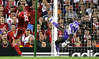 Photo: Paul Thomas.<br /> Liverpool v Toulouse. UEFA Champions League Qualifying. 28/08/2007.<br /> <br /> Peter Crouch (15) of Liverpool scores.