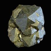 Crystals showing pyritohedral and octahedral faces.  Rio Marina, Elba.