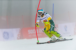 GALLAGHER Jessica Guide: GEIGER Christian competing in the Alpine Skiing Super Combined Slalom at the 2014 Sochi Winter Paralympic Games, Russia