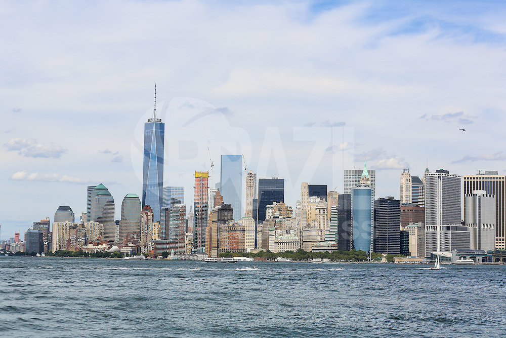 NOVA YORK, EUA, 13.08.2015 - TURISMO-NEW YORK -Vista da ilha da Manhattan em Nova Iorque nos Estados Unidos nesta quinta-feira, 13. A torre mais alta World Trade Center.  (Foto: William Volcov/Brazil Photo Press/Folhapress)