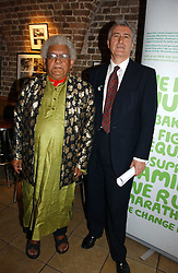Left to right, LORD DESAI and LORD EATWELL at the annual House of Lords and House of Commons Parliamentary Palace of Varieties in aid of Macmillan Cancer Support held at St.John's Smith Square, London W1 on 1st February 2007.<br /><br />NON EXCLUSIVE - WORLD RIGHTS