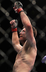 Atlantic City, NJ - June 22, 2012: Dan Miller celebrates his win over Ricardo Funch at UFC on FX 4 at Ovation Hall at Revel Resort & Casino in Atlantic City, New Jersey.