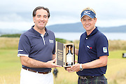 Scottish Open winner 2011. Luke Donald being presented with a bottle of Ballantine's 30 year old by Ken Lindsay, International Brand ambassador.