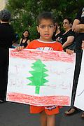 Israel, Haifa, A anti war demonstration during the Second Lebanon War July 30 2006