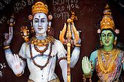 Roadside shrine to Krishna in South India. Tamil Nadu.