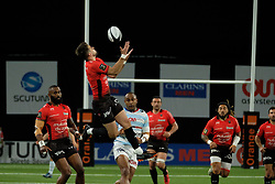 April 8, 2018 - Nanterre, Hauts de Seine, France - RC Toulon scrum half ANTHONY BELLEAU in action during the French rugby championship Top 14 match between Racing 92 and RC Toulon at U Arena Stadium in Nanterre - France. (Credit Image: © Pierre Stevenin via ZUMA Wire)
