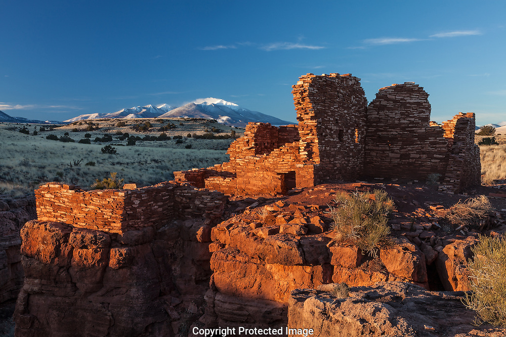 Lomatki Ruin, Sunrise, Jan., Wupatki National Monument, AZ