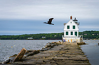 Rockland Breakwater Lighthouse, Rockland, Main USA