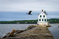 Rockland Breakwater Lighthouse, Rockland, Main USA