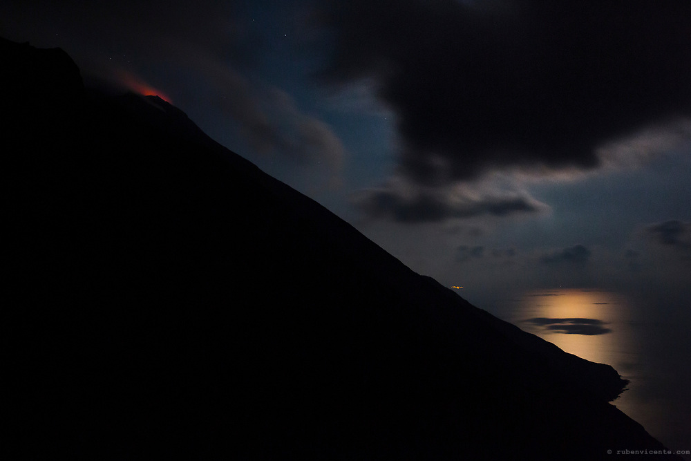 Stromboli sciara del fuoco. Sicily, Italy