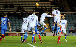 Matthew Clarke of Portsmouth heads in an own goal to make it 2-0 to Peterborough United - Mandatory by-line: Joe Dent/JMP - 21/11/2017 - FOOTBALL - ABAX Stadium - Peterborough, England - Peterborough United v Portsmouth - Sky Bet League One