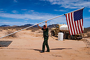 14 AUGUST 2003 - AJO, ARIZONA:  A US Border Patrol forward operating camp in the Organ Pipe National Monument, southwest of Ajo, AZ.   PHOTO BY JACK KURTZ