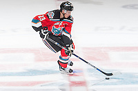 KELOWNA, CANADA - NOVEMBER 11: Justin Kirkland #23 of Kelowna Rockets skates with the puck on the second attempt of the shootout against the Vancouver Giants on November 11, 2015 at Prospera Place in Kelowna, British Columbia, Canada.  (Photo by Marissa Baecker/ShoottheBreeze)  *** Local Caption *** Justin Kirkland;