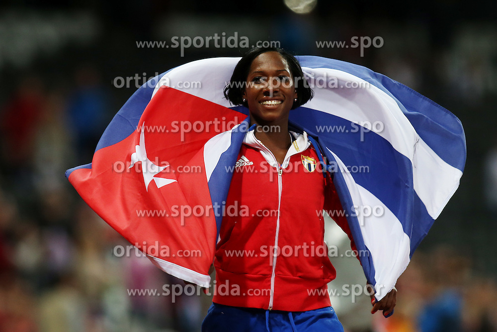 OLYMPICS LONDON, Aug. 6, 2012 .silver medalist Yarisley Silva of Cuba celebrate after women's pole vault final contest, at London 2012 Olympic Games in London, Britain, on August 6, 2012 © pixathlon