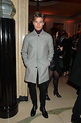 OLIVER CHESHIRE at a reception hosted by The Rake Magazine and Claridge's to celebrate London Collections 2015 held at Claridge's, Brook Street, London on 8th January 2015.