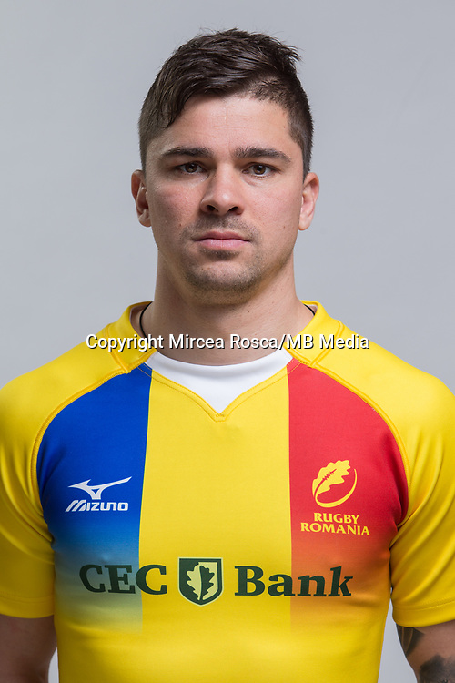 CLUJ-NAPOCA, ROMANIA, FEBRUARY 27: Romania's national rugby player Valentin Calafeteanu pose for a headshot, on February 27, 2018 in Cluj-Napoca, Romania. (Photo by Mircea Rosca/Getty Images)